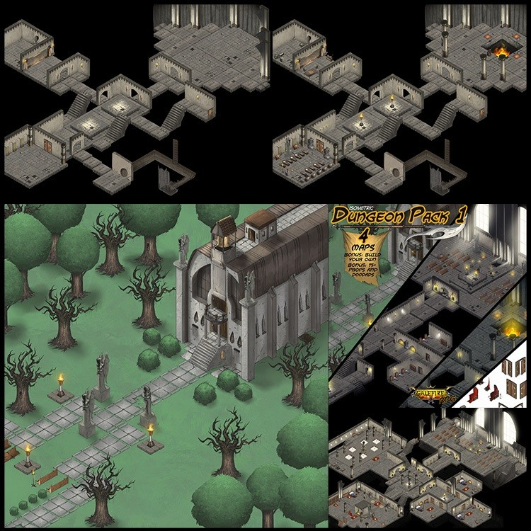 Isometric Dungeon Pack 1 GRPG